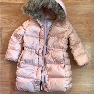 Gap puffer fur jacket toddler